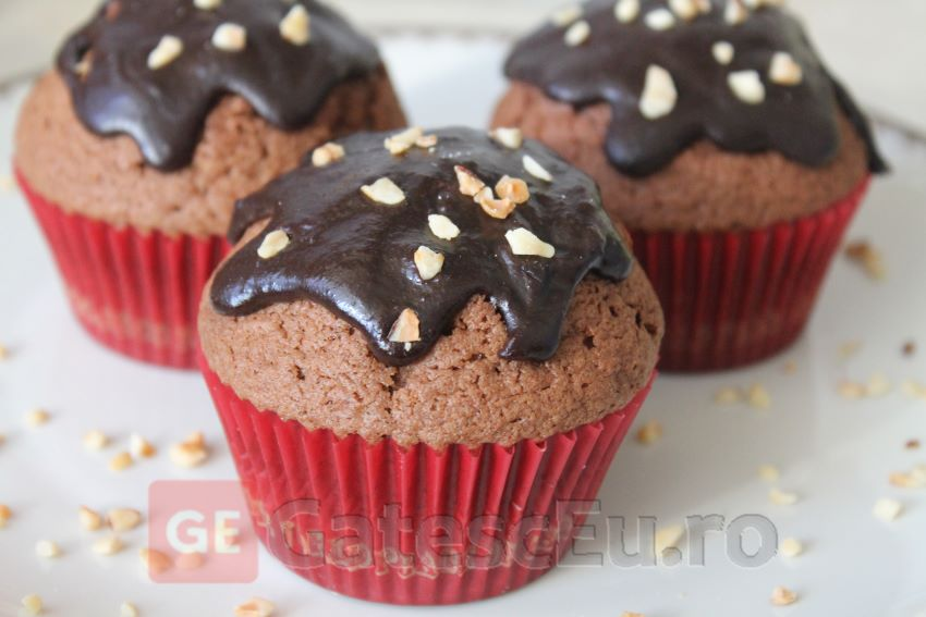 Briose cu ciocolata neagra