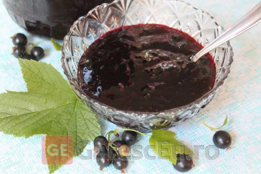 Dulceata din coacaze negre (Fara fierbere)