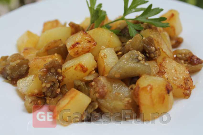Cartofi cu vinete